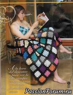 Granny blanket baby blanket ♥LCA♥ with diagrams Crochet Quilt, Crochet Granny, Crochet Blankets, Baby Blankets, Afghan Blanket, Fingerless Gloves, Arm Warmers, Quilts, Pattern