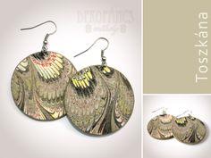 Fülbevaló - Toszkána színei: szürke, Ékszer, óra, Fülbevaló, Meska Crochet Earrings, Drop Earrings, Jewelry, Jewlery, Bijoux, Jewerly, Jewelery, Dangle Earrings, Drop Earring
