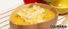 Receita de Sopa de couve-lombarda com massinhas. Descubra como cozinhar Sopa de…