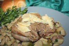 Filetto di vitello con porcini e parmigiano