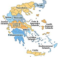 Pictures of Greece | Political Maps of Greece showing the prefectures. I live in Attica.