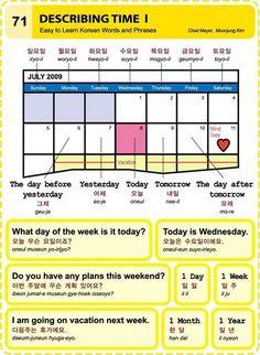 Describing time in Korean! #LearnKorean #StudyKorean #KoreanLanguage
