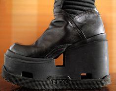 HEX club kid Rave Italy platform boots. by VintagePlatformDeal