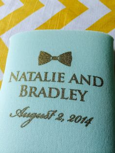 Bowtie Wedding Koozies  We Want to Be Formal But by RookDesignCo