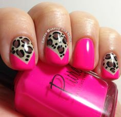 Fierce Makeup and Nails: Neon and Leopard with Video Tutorial!