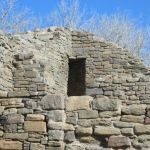 Aztec Ruins in New Mexico.    Corner Doorway in West Ruin