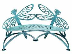 Dragonfly Bench, along with a few of it's counterparts, the butterfly benches and seats these will hide away perfectly in the secret garden.