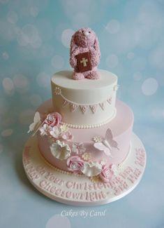 Floppy Bunny Christening - Cake by Carol Cake Icing, Cupcake Cakes, Sophia Cake, Dedication Cake, 1st Birthday Cakes, Communion Cakes, Just Cakes, Cake Gallery, Gorgeous Cakes