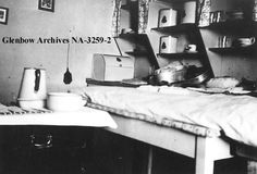 Ready for Tonsillectomy in kitchen of Mission House in Cherry Point, Alberta, 1939