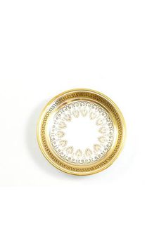 50s__A. French & Co__Mini Gold and Black Round Jewelry dish from Sweet & Spark Curated Vintage Jewelry!