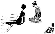 $郷愁のイラストレーション-突っかけ01