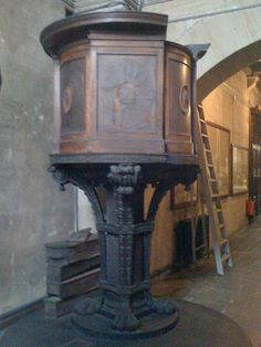 Sir Christopher Wren's original pulpit for St. Paul's Cathedral.