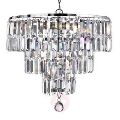 Empire is a spectacular, glittering 5 light chandelier with stunning rectangular crystal prisms hanging from a modern, chrome finish frame. Create a scintillating, jewellery-like effect with this impactful piece as the main feature in your living area. Empire Chandelier, Metal Chandelier, Antique Chandelier, Chandelier Ceiling Lights, Ceiling Pendant, Pendant Lamp, Iron Chandeliers, Lustre Led, Lustre Metal
