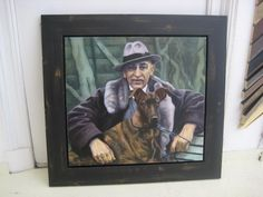 Frame around painting of Louis Couperus.