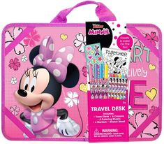 This Disney's Minnie Mouse Travel Lap Desk is a perfect way to keep your children occupied when traveling by train, plane or automobile! Disney Princess Bedroom, Disney Princess Toys, Mermaid Birthday Cakes, Frozen Birthday Party, Play Grocery Store, Minnie Mouse Toys, Bakery Kitchen, Hello Kitty Items, Lap Desk