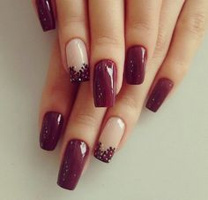 Easy Cute Nail Design Ideas for You 2016 - Reny styles Brown Nails, Purple Nails, Nails Now, How To Do Nails, Hot Nails, Hair And Nails, Fancy Nails, Pretty Nails, New Nail Designs