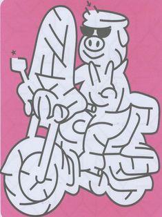 Övningar för barn att skriva ut. Labyrinter 280