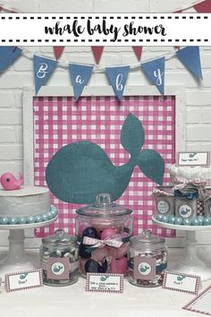 What Whale it Be? Host an adorable Whale themed baby shower with inspiration from Everyday Party Magazine. #WhatWhaleItBe #BabyShower #GenderReveal
