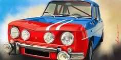 Renault R8 Gordini by ChrisKwia. Technical digital painting. www.digital-painting-fine-art.com