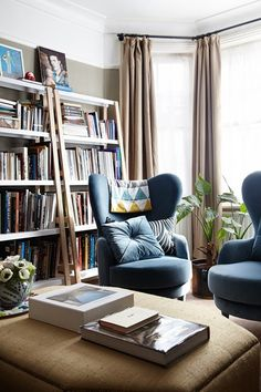 See all our stylish living room design ideas on HOUSE by House & Garden, including a bright, south-facing room with a large bay window