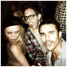 Becca Tobin, Kevin McHale and Jacob Artist