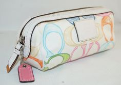 Coach Pastel Monogram Make up Bag Cosmetic by ForeverCreative1, $15.00