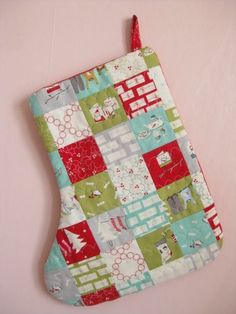 Cherry Christmas patchwork stocking! Check our blog the Jolly Jabber for an interview with Aneela Hoey on Saturday!