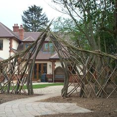 Bespoke Trellis with Arch from Natural Fencing