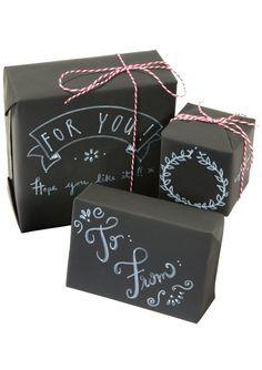 Zestaw do pakowania prezentów kredowy