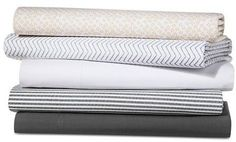 Super cute and cheap patterned sheets from Target. Threshold Classic Percale Sheet Set 300 Thread Count -affiliate link