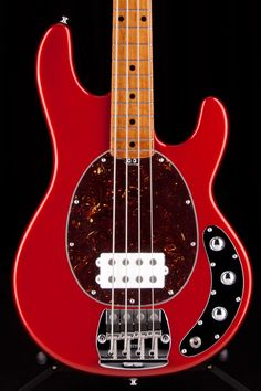 music man - classic stingray. w/roasted maple neck. classic candy.
