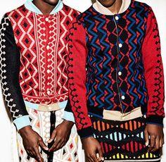 MaXhosa by Laduma AW2014 #pattern #jacket  #menswear