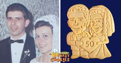 50 years together and still as young as ever! | anniversary party ideas #cookies #CoupleGoals #giftideas