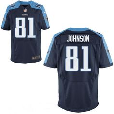 Tennessee Titans #81 Andre Johnson Navy Blue Alternate Stitched NFL Nike Elite Jersey