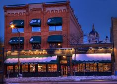 Cossetta's - Totally classic Italian food in downtown St. Paul. Try the tiramisu. Cannolis. Pasta. Bread. You'll be happy.