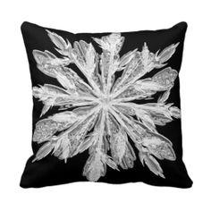 Snowflake Crystal http://www.zazzle.com/snowflake_crystal-189510796884441401?rf=238412905592140161 throw pillows