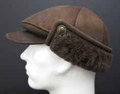kvalitně zpracovaná pánská kožešinová čepice z ovčiny (s beránkem) vyrobená v České republice