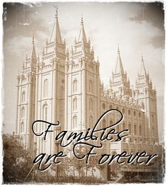 Free ~ Vintage Salt Lake Temple Pic ~ can print without words also!  Free LDS artwork. Save, then print at a quality print shop.