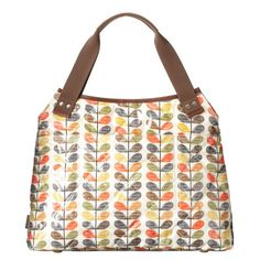 Orla Kiely Quilted Multi Scribble Stem Classic Shoulder Laptop Bag | ACHICA £77