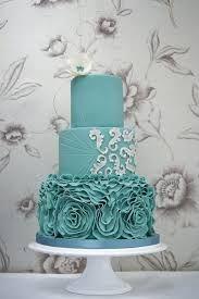 Beautiful turquoise wedding cake