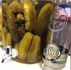 Be Amazed With These Five Recipes Using Dill Pickle Vodka Vodka Recipes, Shot Recipes, Pickle Vodka Recipe, 360 Vodka, Vodka Potato, Vodka Mixes, Vinegar Cucumbers, Garlic Infused Olive Oil, Best Pickles