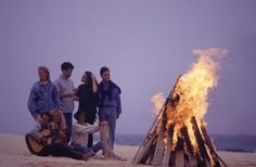 Teens often gather with their friends at high school bonfires.