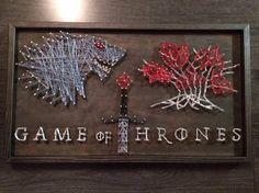 Game of Thrones Stark House String Art GOT