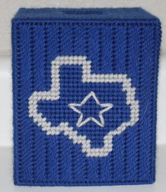 Dallas Cowboys Tissue Box Cover by CraftsbyRandC on Etsy Plastic Canvas Ornaments, Plastic Canvas Tissue Boxes, Plastic Sheets, Plastic Canvas Crafts, Plastic Canvas Patterns, Dallas Cowboys Crafts, Cowboy Crafts, Tissue Box Covers, Covered Boxes