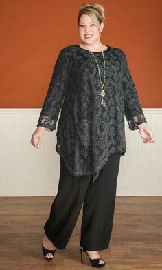 Odessa lace tunic / mib plus size fashion for women / fall fashion / dressy plus size tunic Plus Size Fashion For Women, Plus Size Women, Modest Fashion, Women's Fashion Dresses, Moda Plus Size, Mode Hijab, Plus Size Outfits, Autumn Fashion, Casual Outfits
