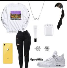 Boujee Outfits, Baddie Outfits Casual, Swag Outfits For Girls, Cute Teen Outfits, Cute Outfits For School, Teenage Girl Outfits, Cute Comfy Outfits, Teenager Outfits, Teen Fashion Outfits