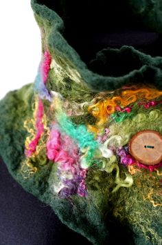 felted scarf shawl woolen scarf felt scarf felted by Feltmondo