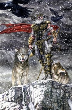 Odin, sky god and ruler of the Asgardian gods - Norse mythology