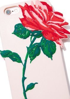 Wild Thornz iPhone Case don't get pricked! This phone case has a flexible silicone body with a red N' green rose on the back. Rose Emoji, Rose Phone Case, Save The Queen, Green Rose, Red Roses, Gadgets, Iphone Cases, Pretty, Iphone Case