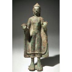 Art Thai, Black Buddha, Standing Buddha, Asian Art Museum, Javanese, Buddhist Art, Online Collections, Antique Items, Buddhism